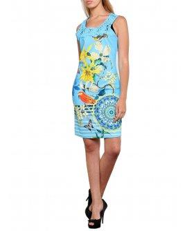 Schönes 101 Idees Kleid mit floralem Muster *Baby Turquoise | B0615