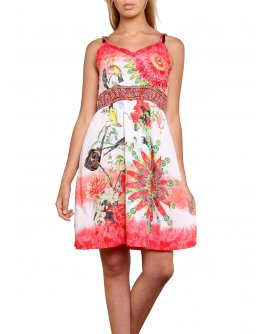101 Idees Sommerkleid mit floralem design *Mia | D1701