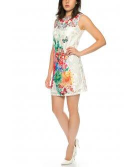 101 Idees Spitzenkleid mit floralem Muster *Shirin | H250