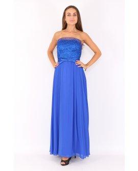 Abendkleid mit fließendem Chiffon A-Linie von Juju&Christine in Royal Blau | R1522