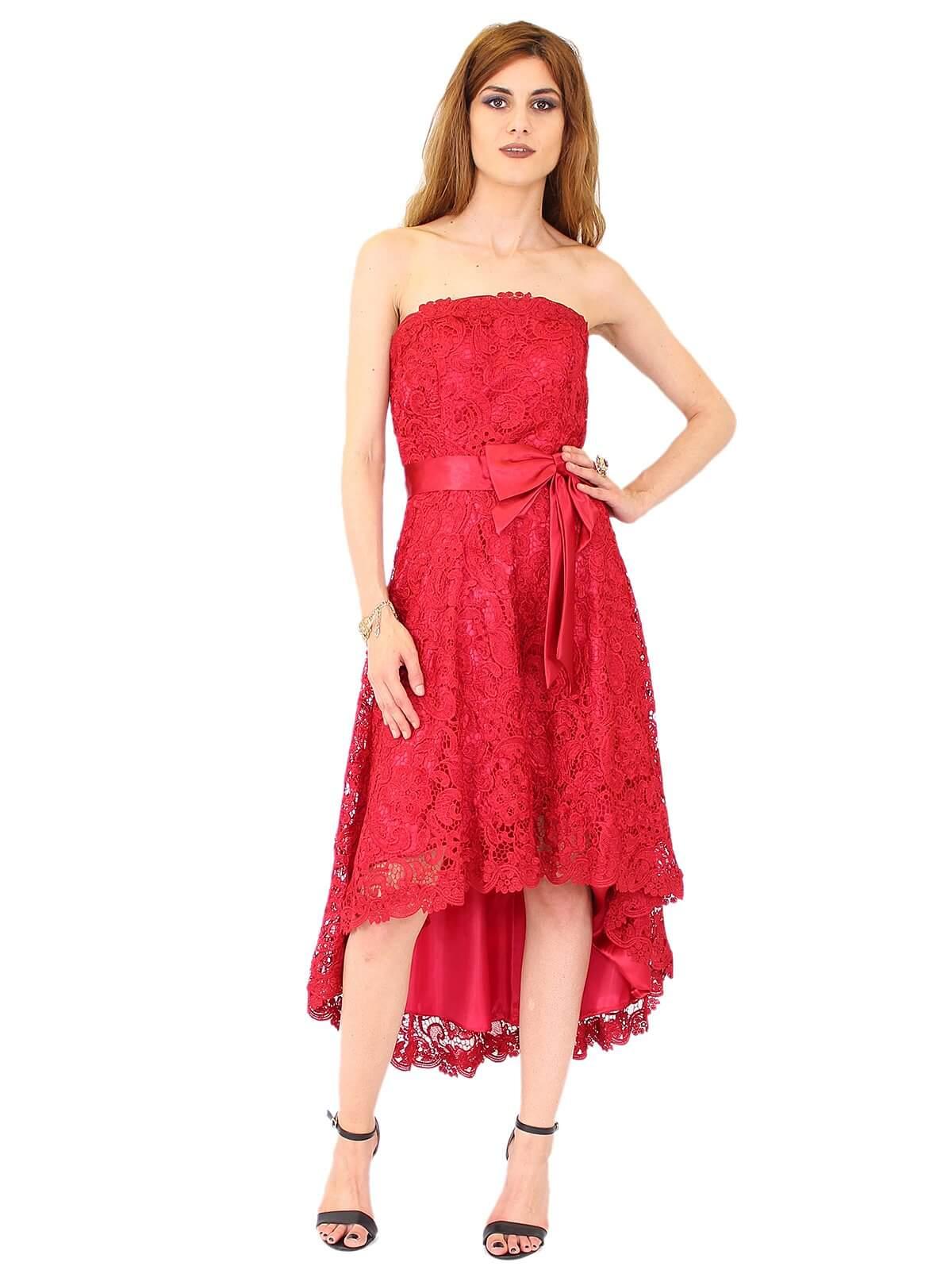 Juju Christine Vokuhulia-Kleid Cocktailkleid aus Spitze in Weinrot   R1381 3a48b4212a