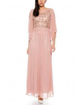 Kleid R8130-Altrosa