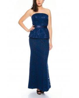 Bezauberndes Meerjungfraukleid aus feiner Spitze / Retro Stil von in Marineblau Juju&Christine - R1592