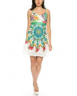 Schönes Sommerkleid mit floralem Muster von 101 Idees D1619