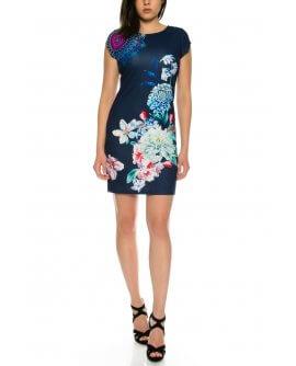 101 Idees halbarm Sommerkleid mit floralem Muster *Josephine | B2307