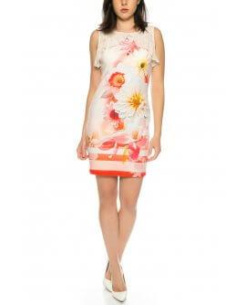 Figurbetontes Sommerkleid mit floralem Muster von 101 Idees A2324